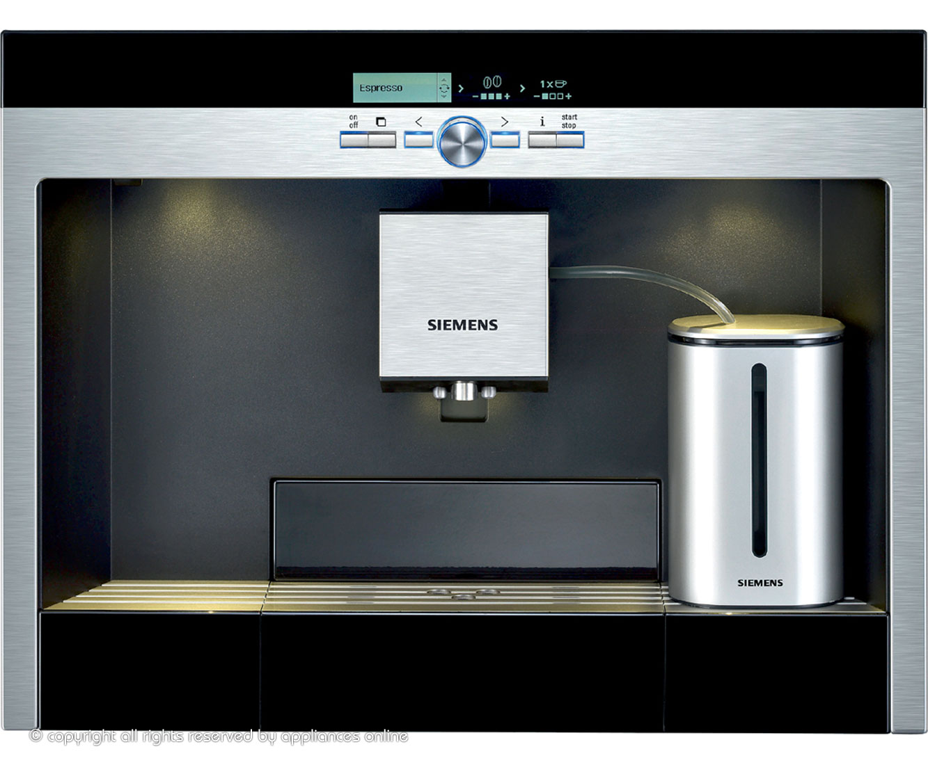 Siemens Einbau Kaffeevollautomat built in coffee maker ceramics